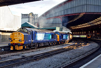 37606 and 37609 at Bristol Temple Meads