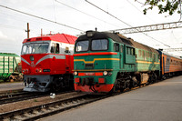 M62 1093 and TEP70 0335 at Jelgava