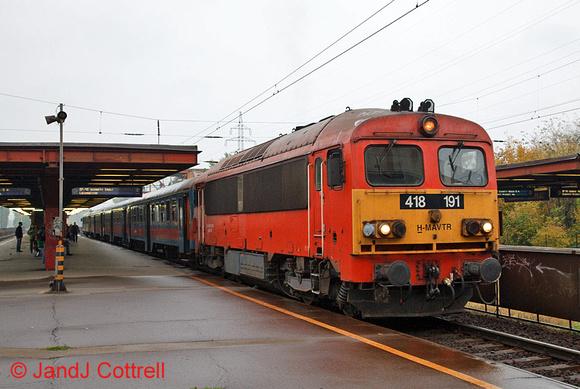 418 191 at Kőbánya-Kispest
