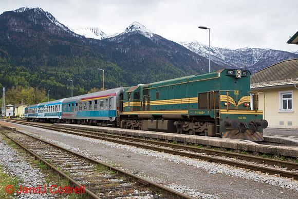 644 012 at Bohinjska Bistrica